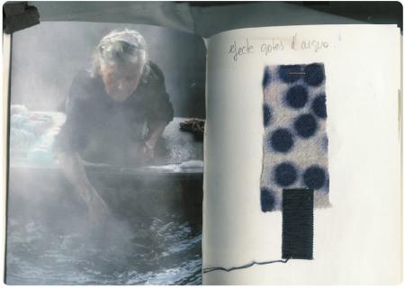 Les sensacions que transmet l'aigua, traduïdes als teixits de Miriam Ponsa